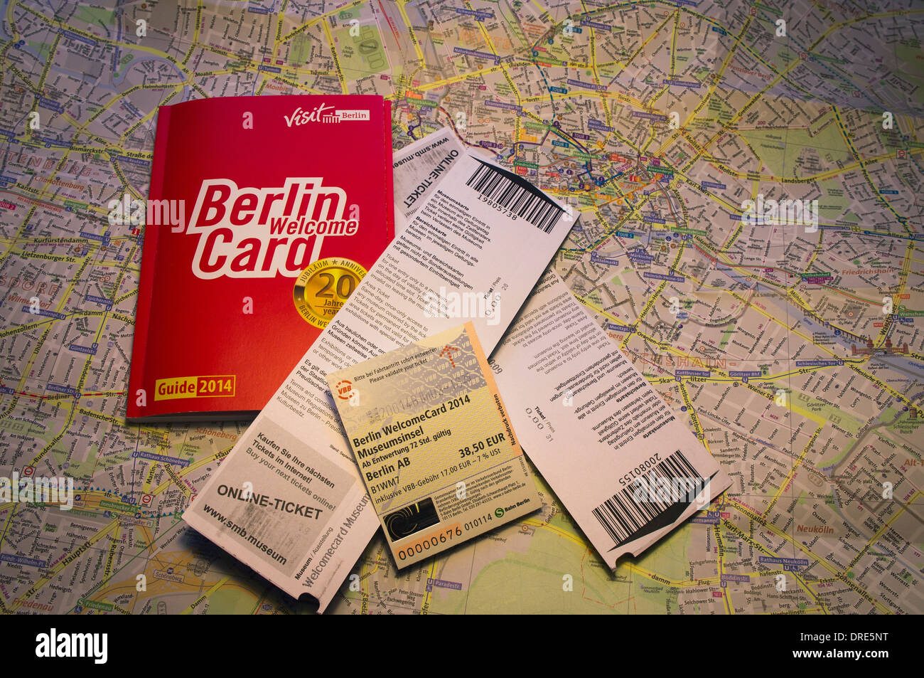 Berlin Berlin Welcome Card Welcomecard Map Ticket Voucher Stock