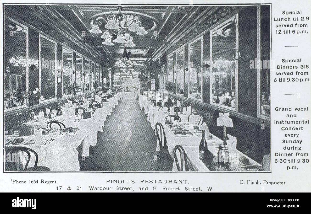 Pinoli's Restaurant, London - Stock Image