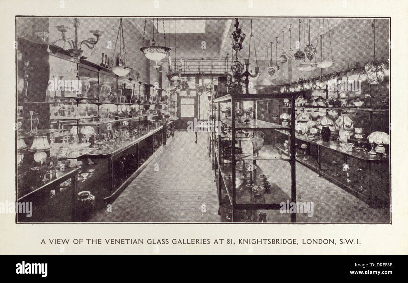 Venetian Glass Galleries - Knightsbridge, London - Stock Image