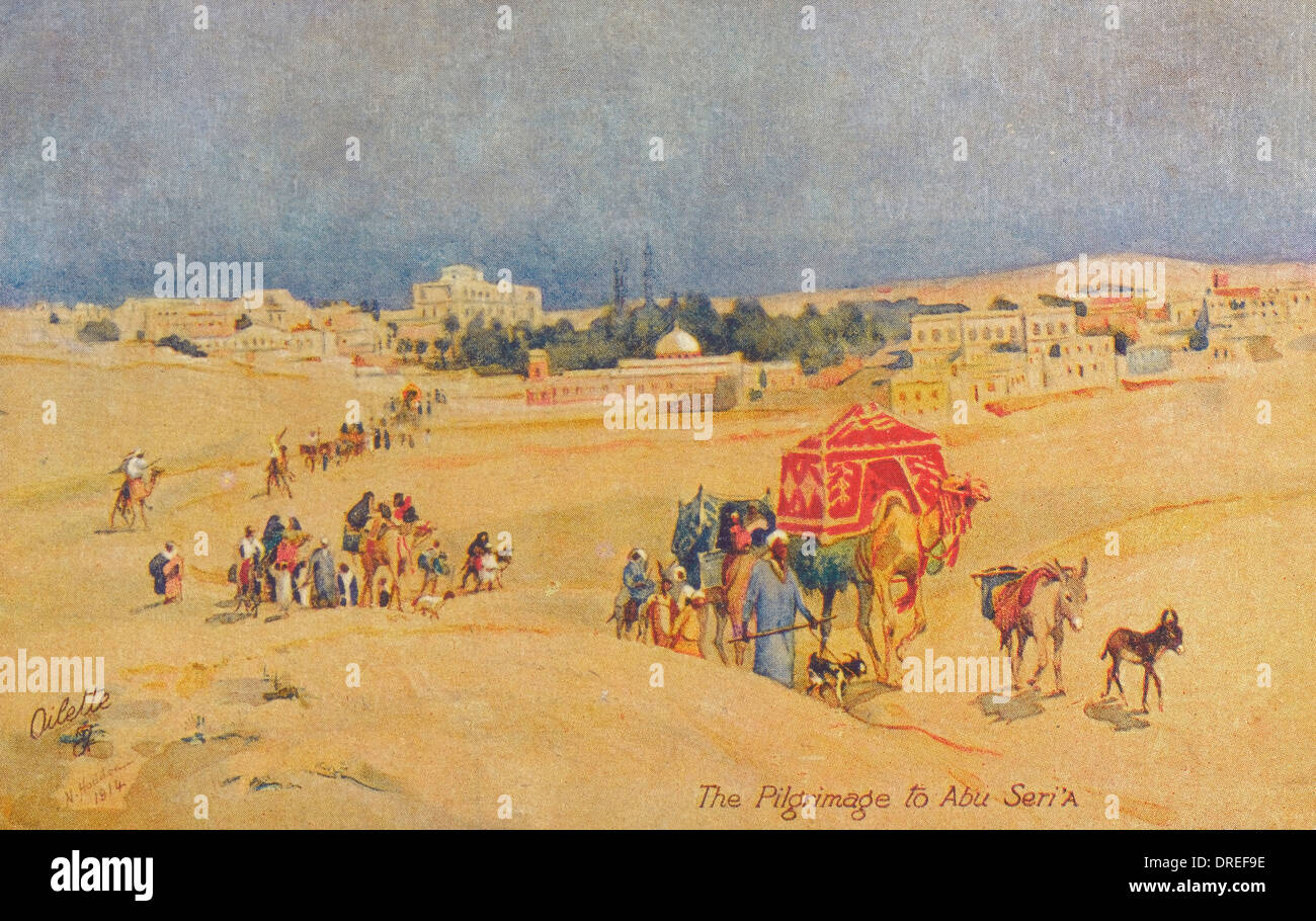 The Pilgrimage to Abu Seri' A - Egypt - Stock Image