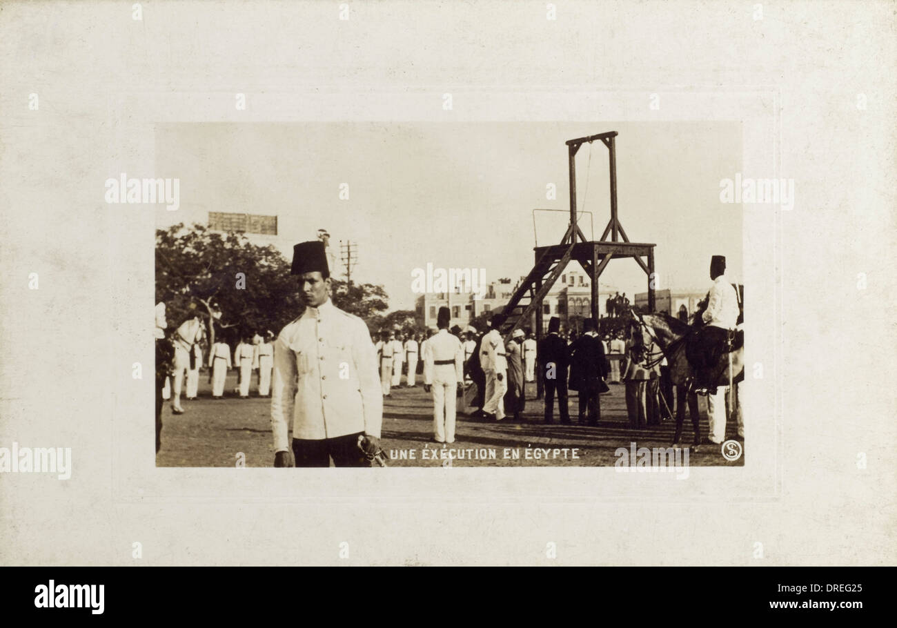 Public Execution in Egypt - Stock Image