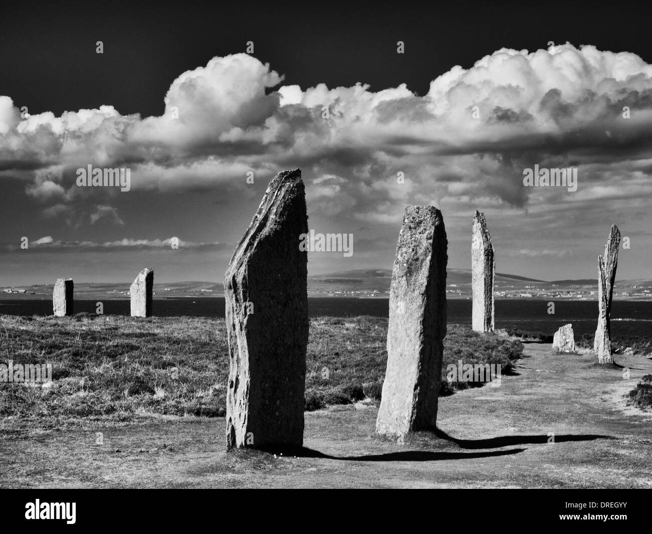 The Ring of Brodgar, Orkney Islands, Scotland - Stock Image