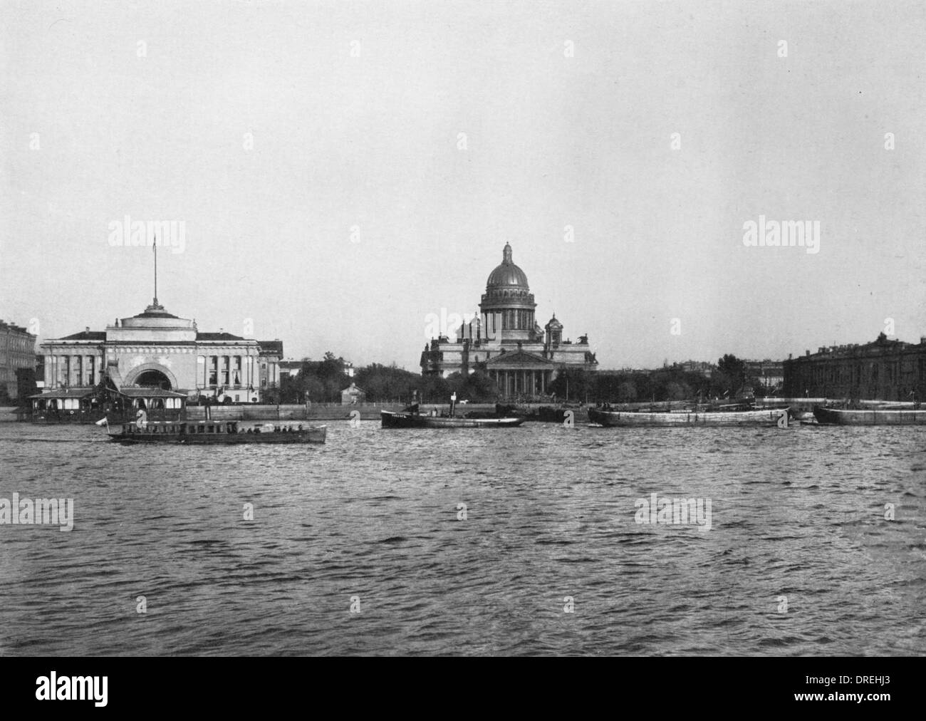 Admiralty and St Isaac Cathedral, St Petersburg, Russia - Stock Image