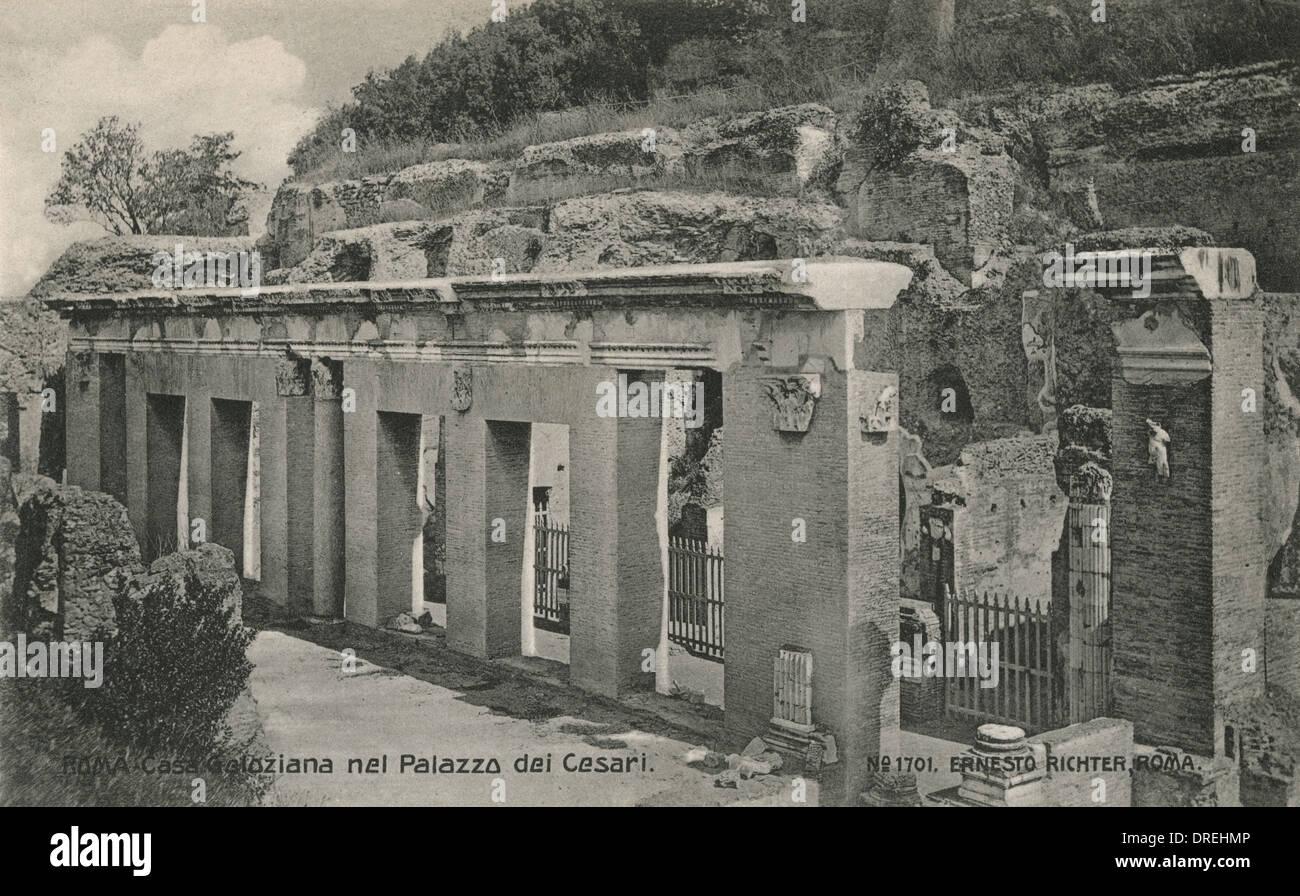 Palace of the Caesar's, Rome - Casa Geloziana - Stock Image