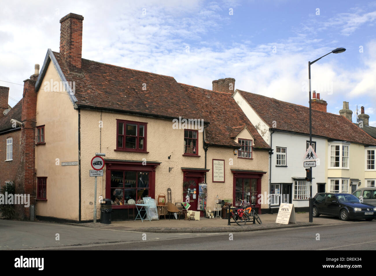 Antique and collectibles shop in Long Melford, Suffolk - Stock Image