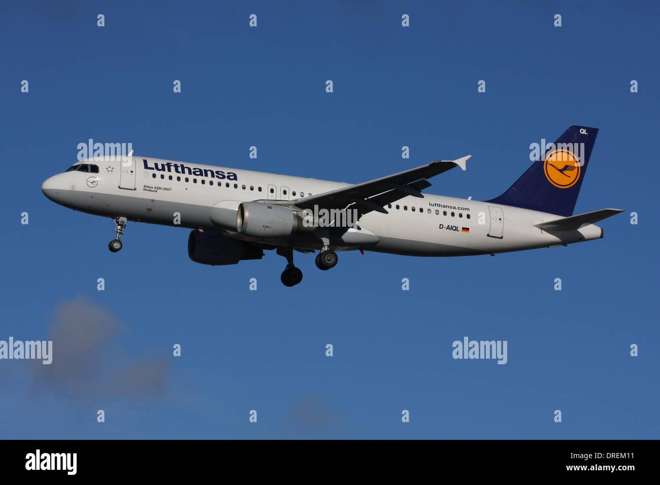LUFTHANSA AIRBUS A320 - Stock Image