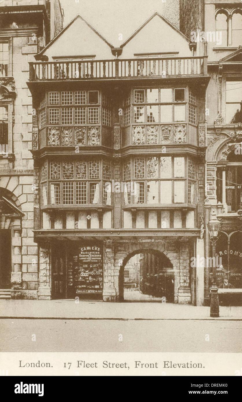 17 Fleet Street, London - Front Elevation - Stock Image