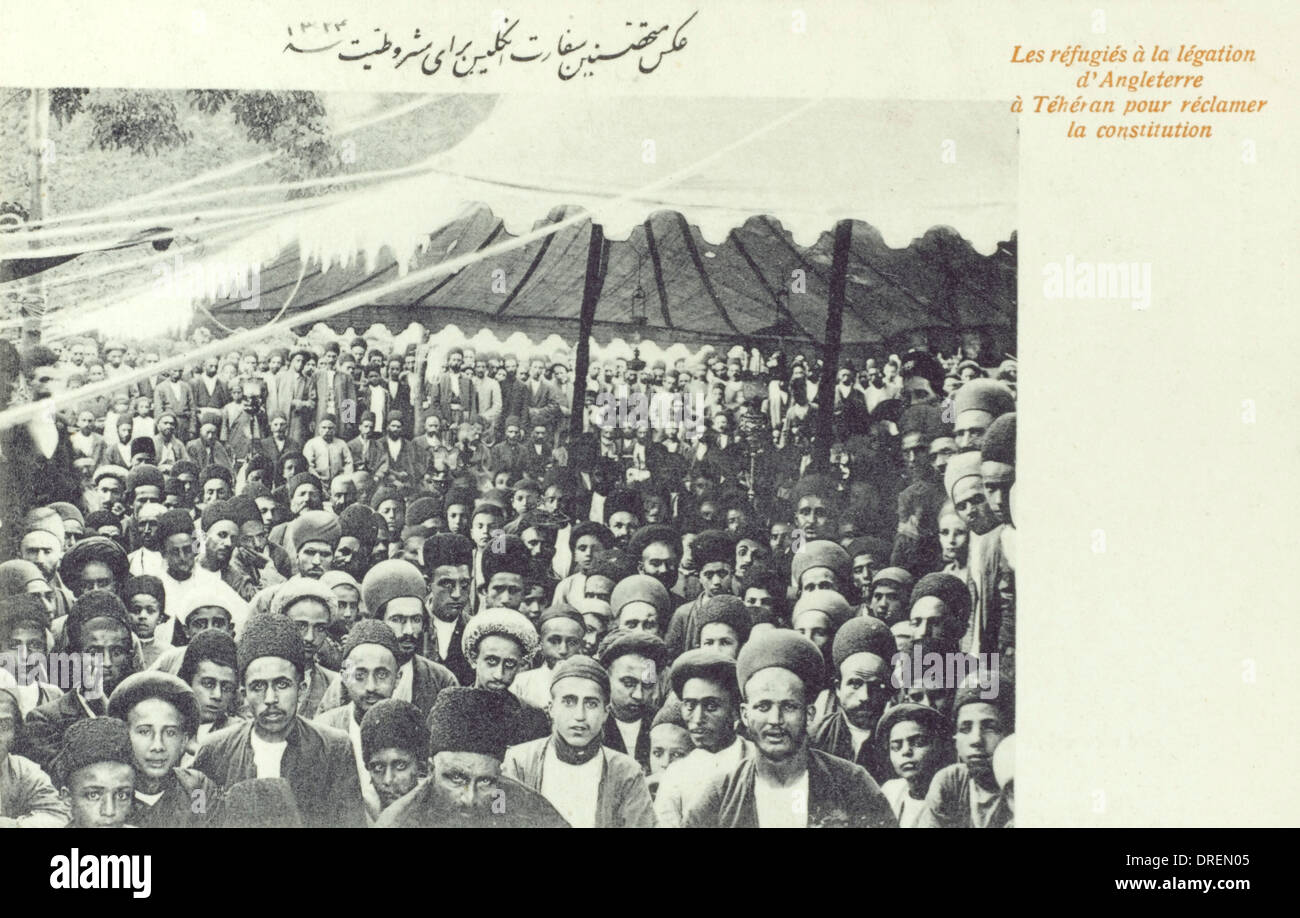 The Constitutional Revolution in Iran (4/4) - Stock Image