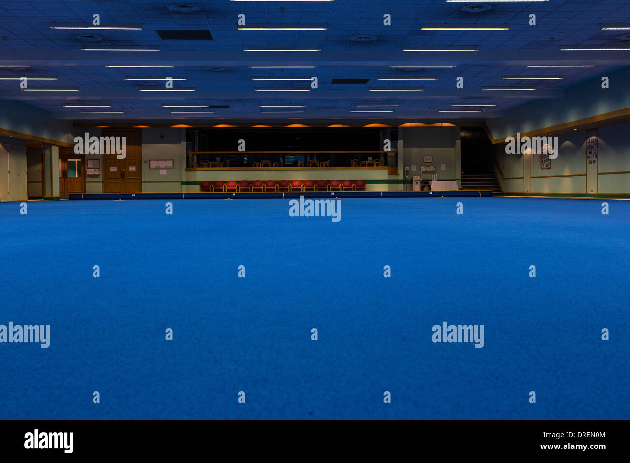 indoor bowling rink,indoor bowling arena,blue carpet,alley, angle ...
