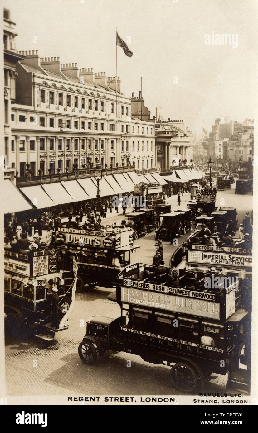 Oxford Circus and Regents Street, London Stock Photo