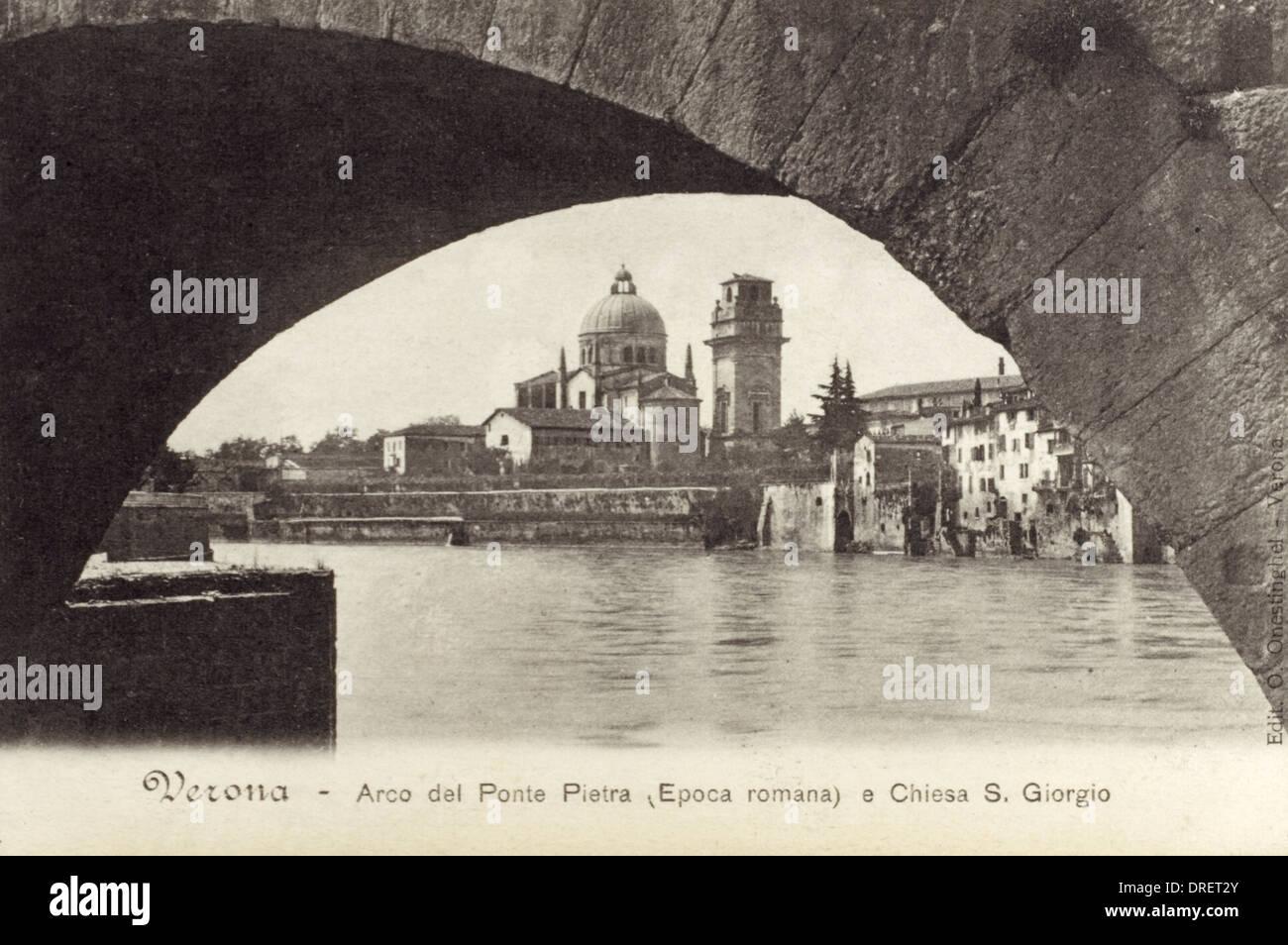 Italy - Verona - Church of St. George Stock Photo