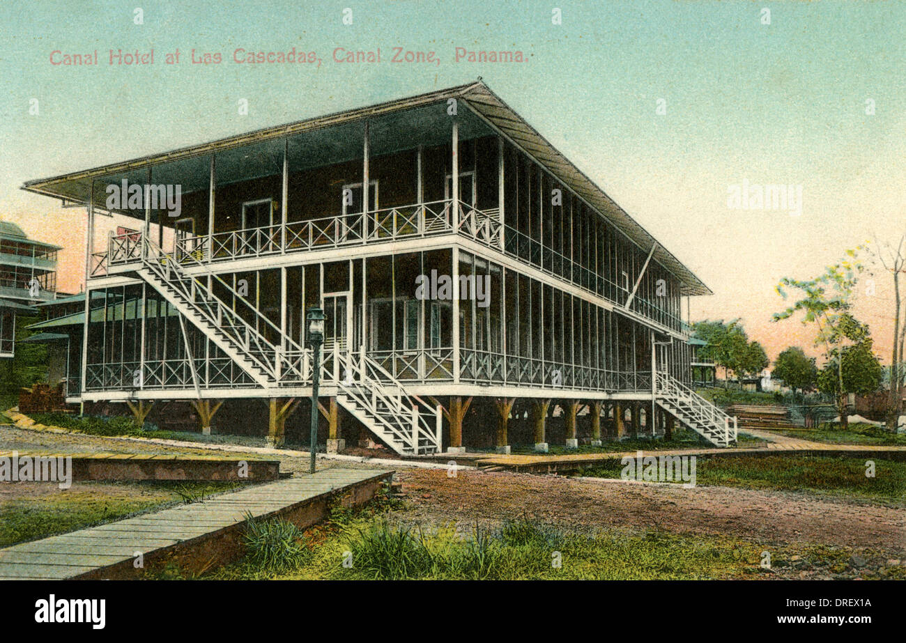 Canal Hotel at Las Cascadas, Canal Zone, Panama - Stock Image