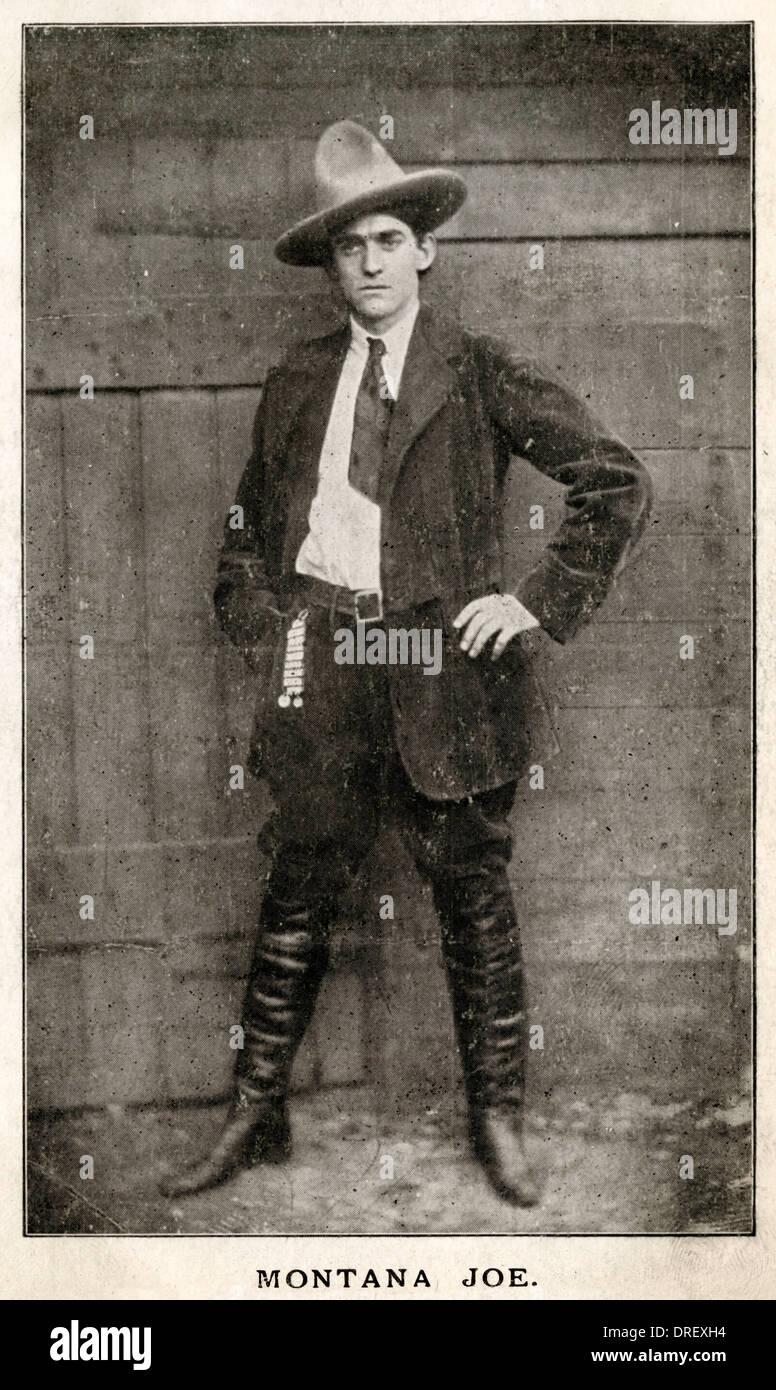 Montana Joe, an American cowboy - Stock Image