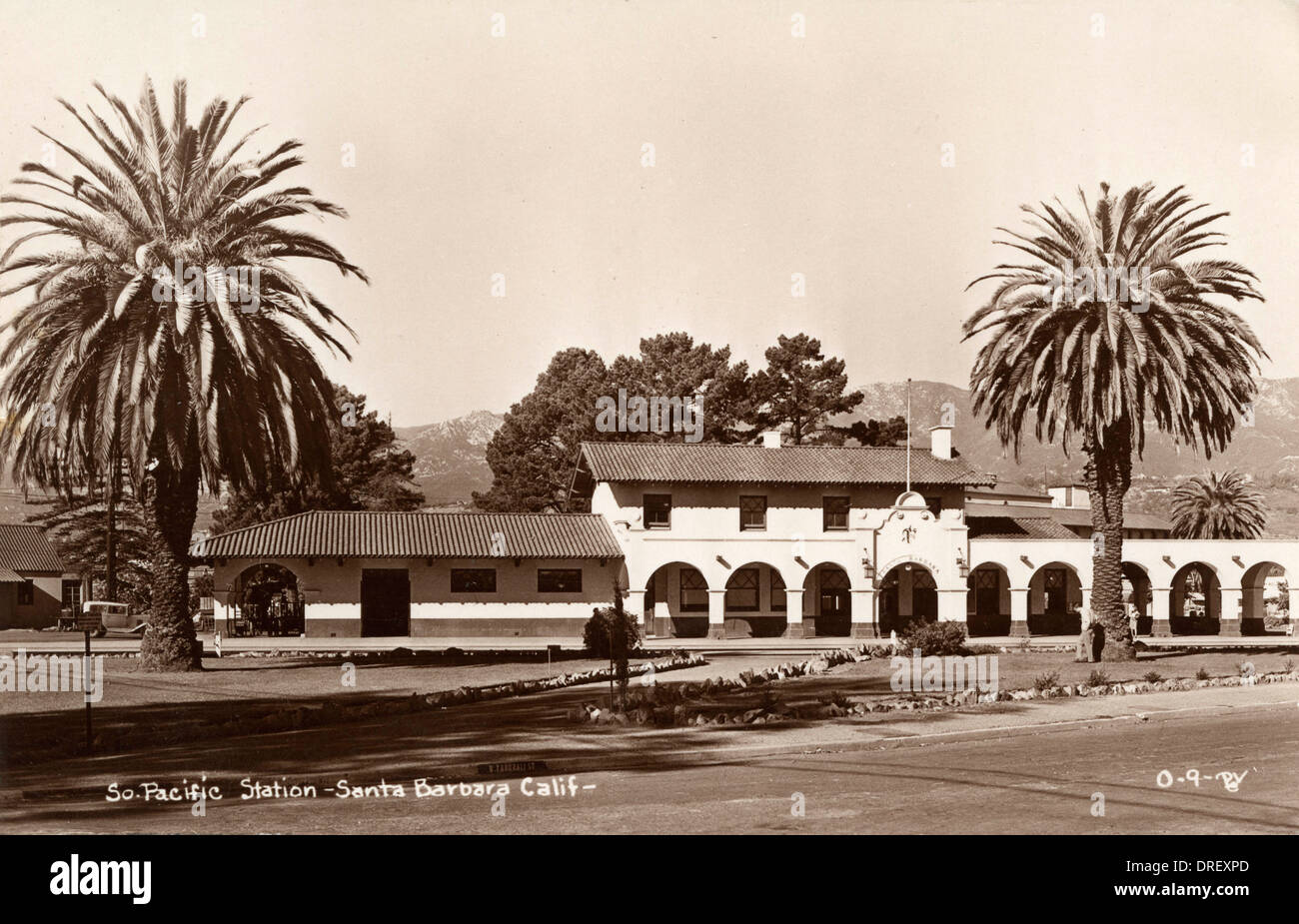 South Pacific railway station, Santa Barbara, California - Stock Image