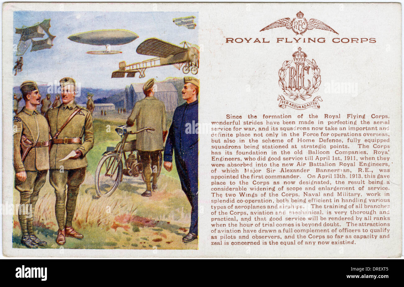 The Royal Flying Corps - Stock Image