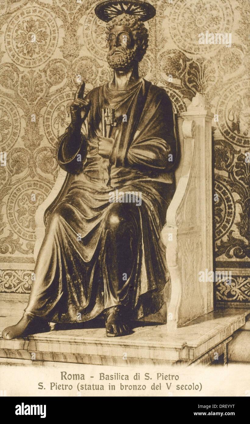 Saint Peter - Bronze Statue - Stock Image