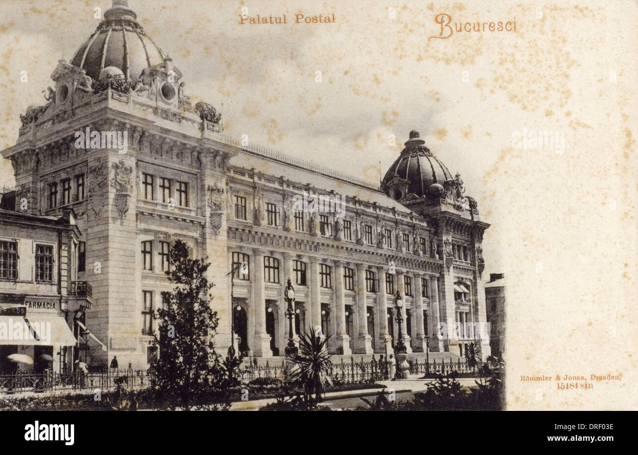 Romania - Bucharest - Postal Palace - Stock Image