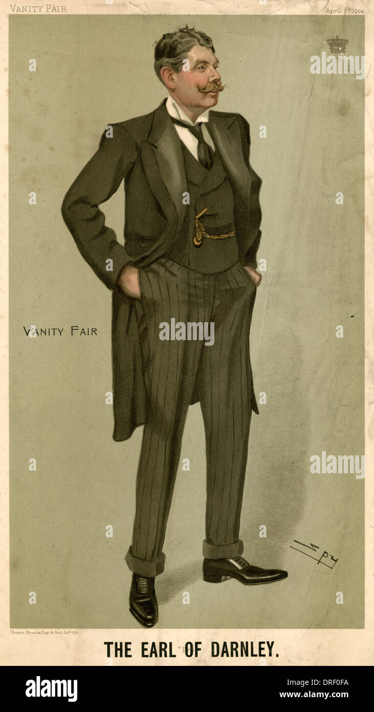 The Earl of Darnley, Vanity Fair, Spy - Stock Image