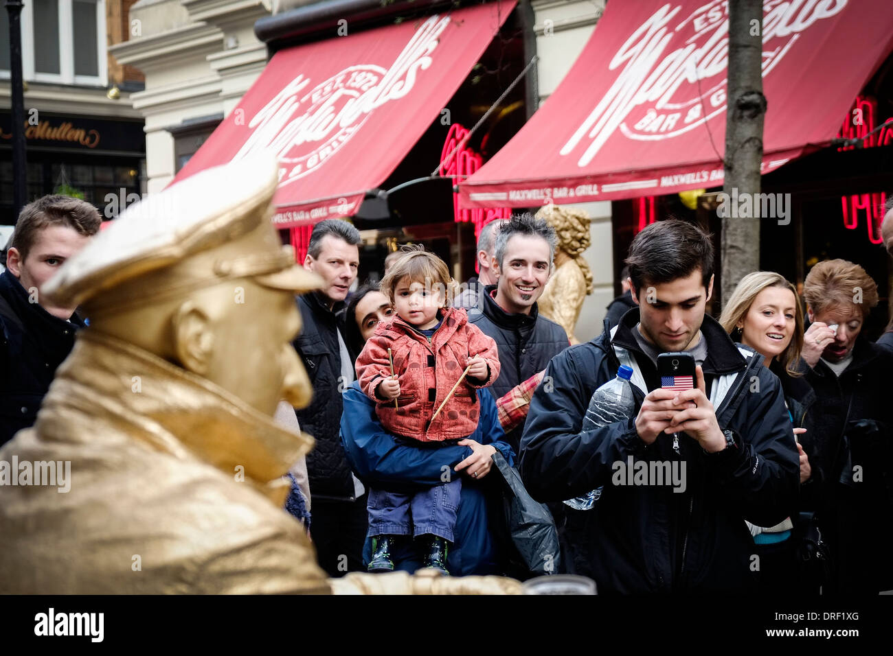 A street entertainer at Covent Garden. - Stock Image