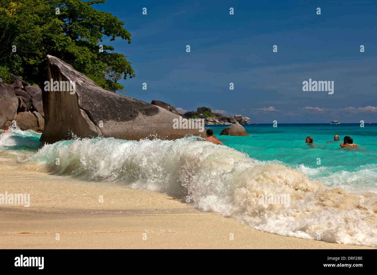 Dream beach on the Koh Miang Island, Similan Islands, Mu Ko Similan National Park, Thailand - Stock Image