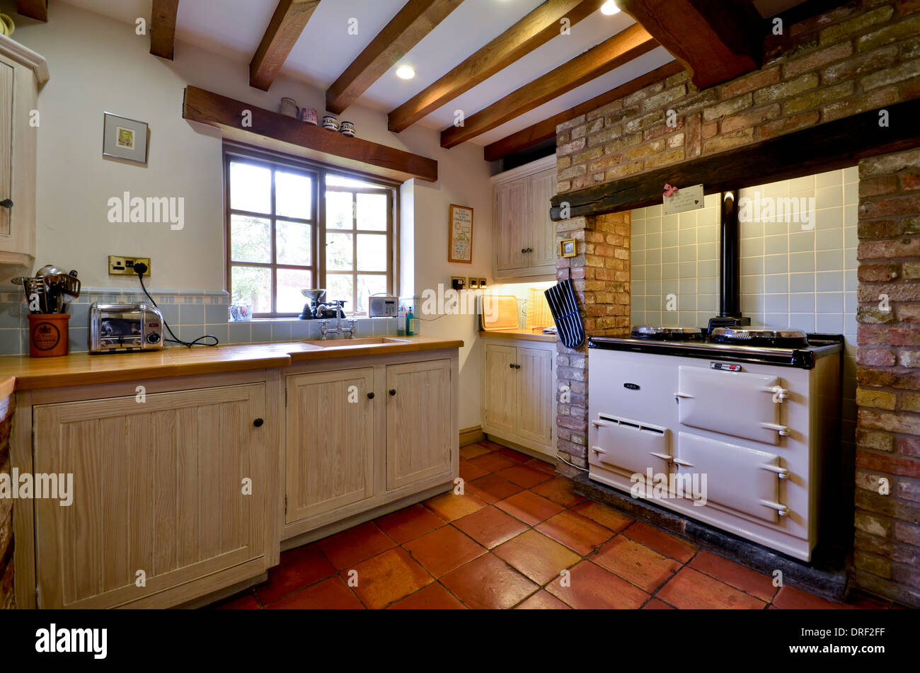 traditional cottage kitchens farmhouse kitchen with range cooker stock photo 66099475 2893