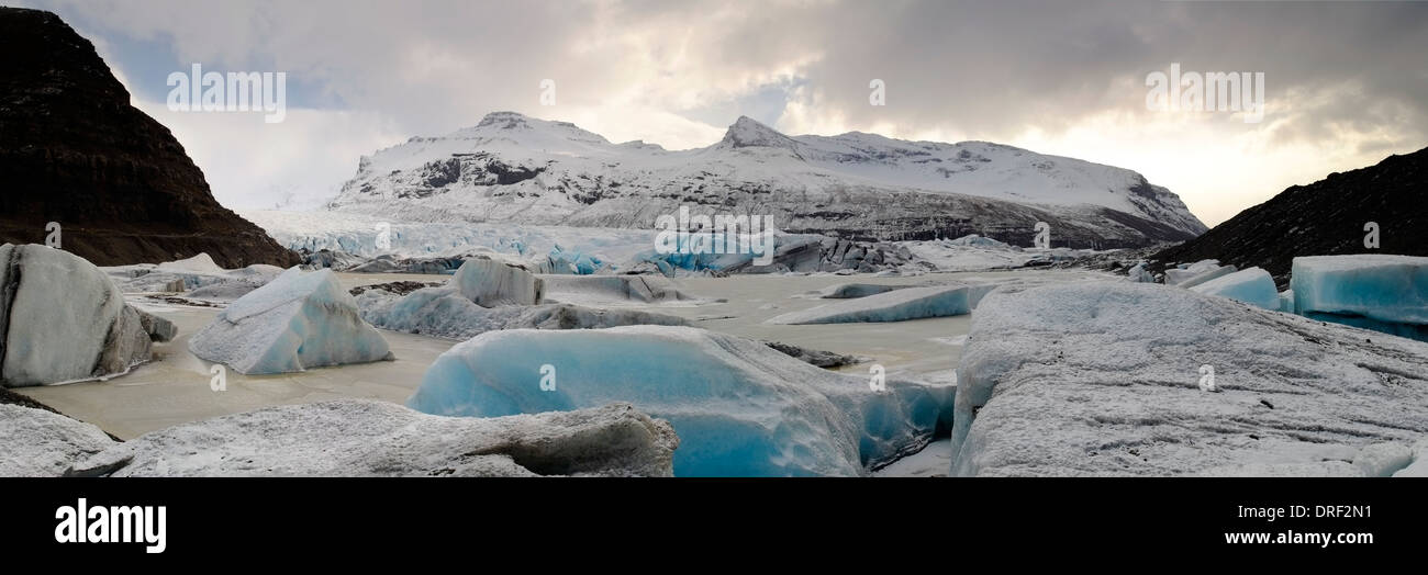 Hoffellsjokull glacier Glacier, Iceland, Polar Region - Stock Image