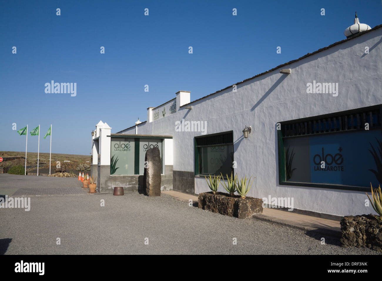 Punta Mujeres Lanzarote Canary Islands Aloe Vera House Factory Shop Selling  Selection Of Cosmetic Products Made From Cactus