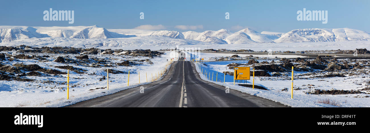 Road scene, Iceland, Polar Region - Stock Image