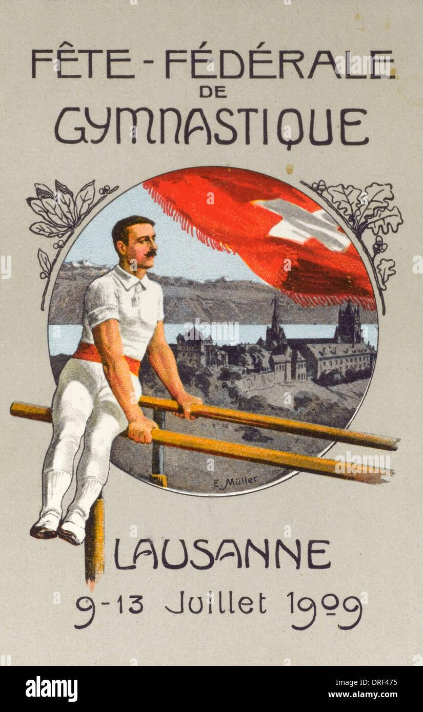 Fete Federal de Gymnastique, Lausanne - Stock Image