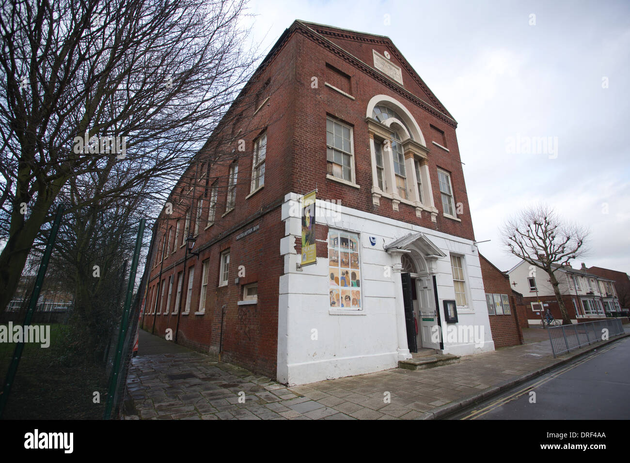 Beneficial Hall in Kent Street, where Charles Dickens mother Elizabeth attended dance classes around 1812, Portsmouth, Hampshire - Stock Image