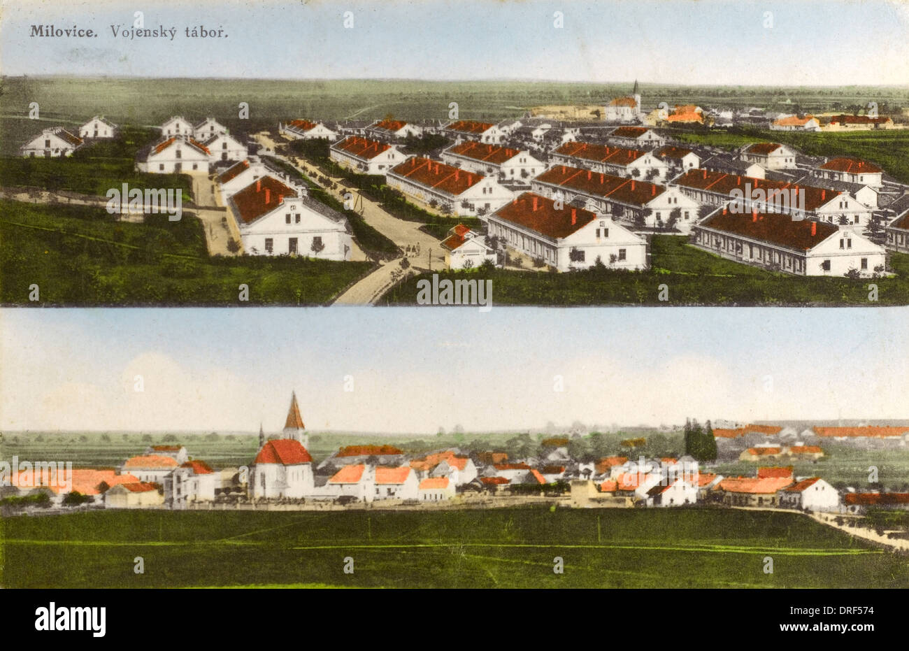 Milovice - Austro-Hungarian Military Camp/Barracks - Stock Image