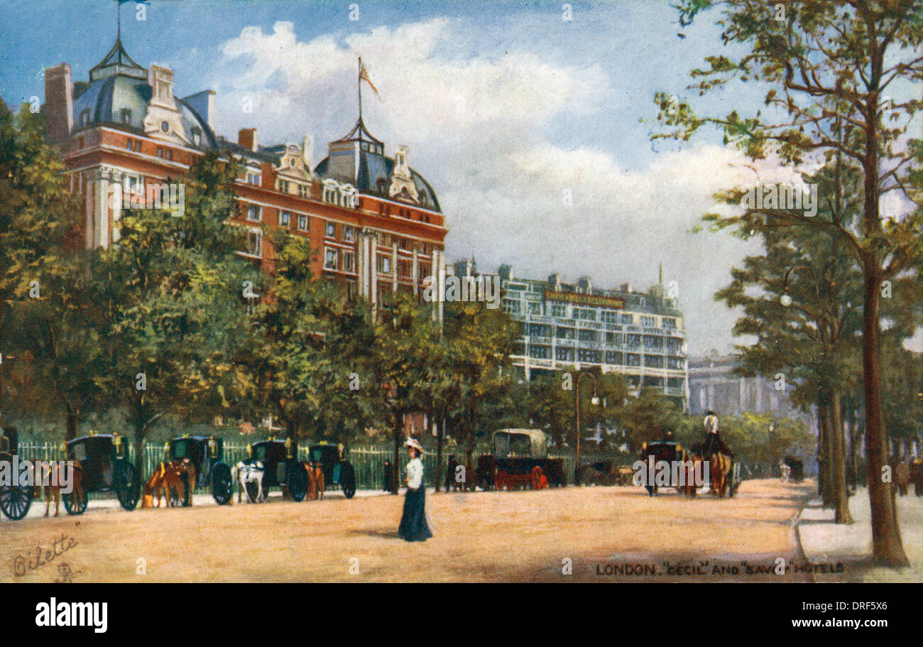 Cecil and Savoy Hotel - Stock Image