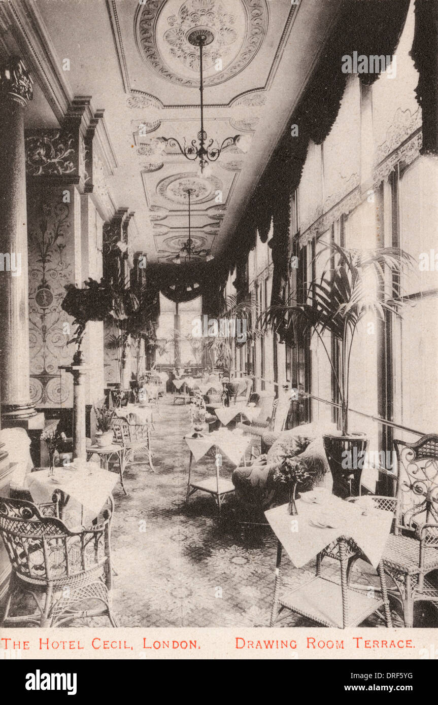 Cecil Hotel, London - Stock Image