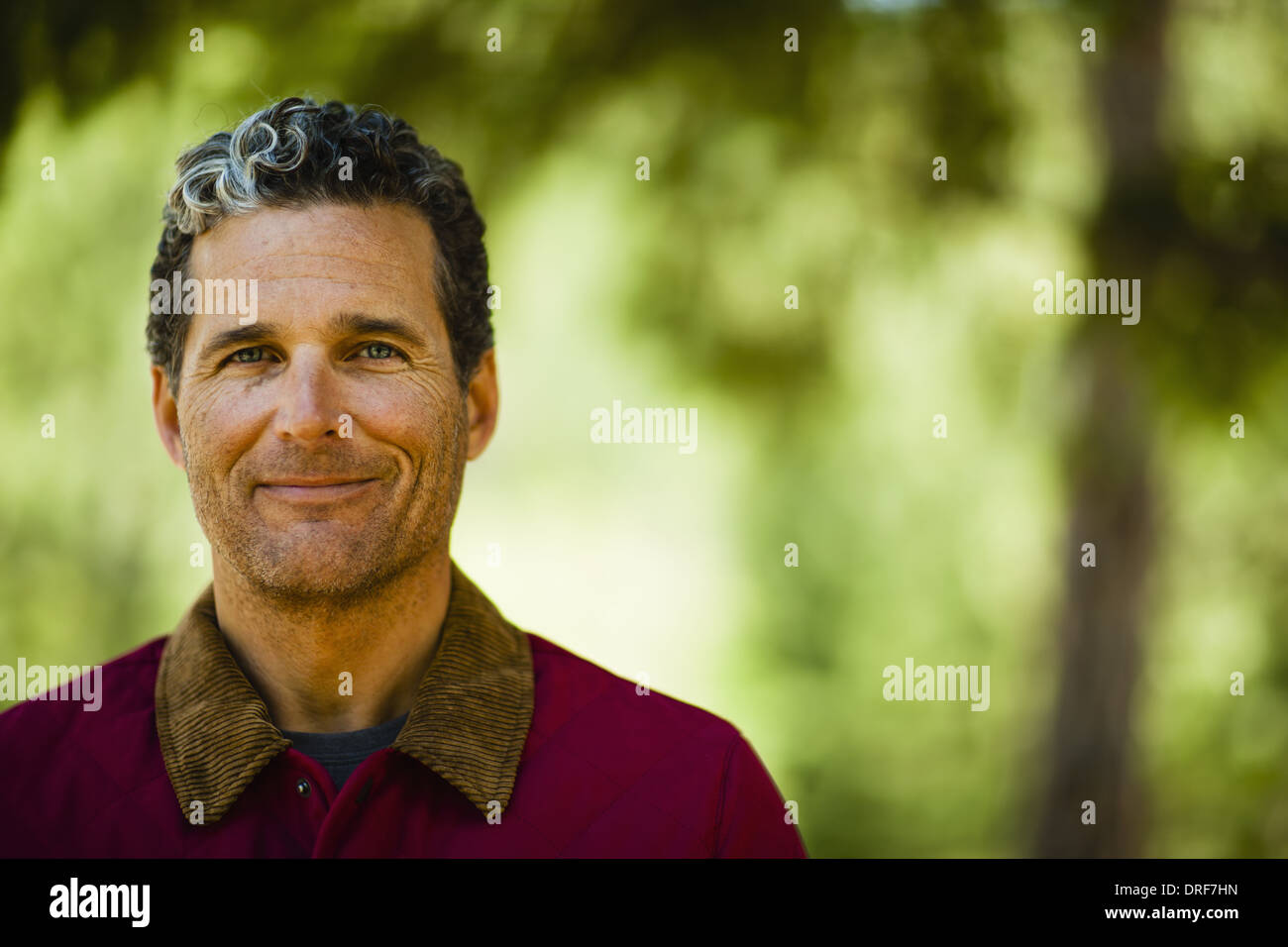 Colorado USA Head and shoulders of mature man in the open air - Stock Image