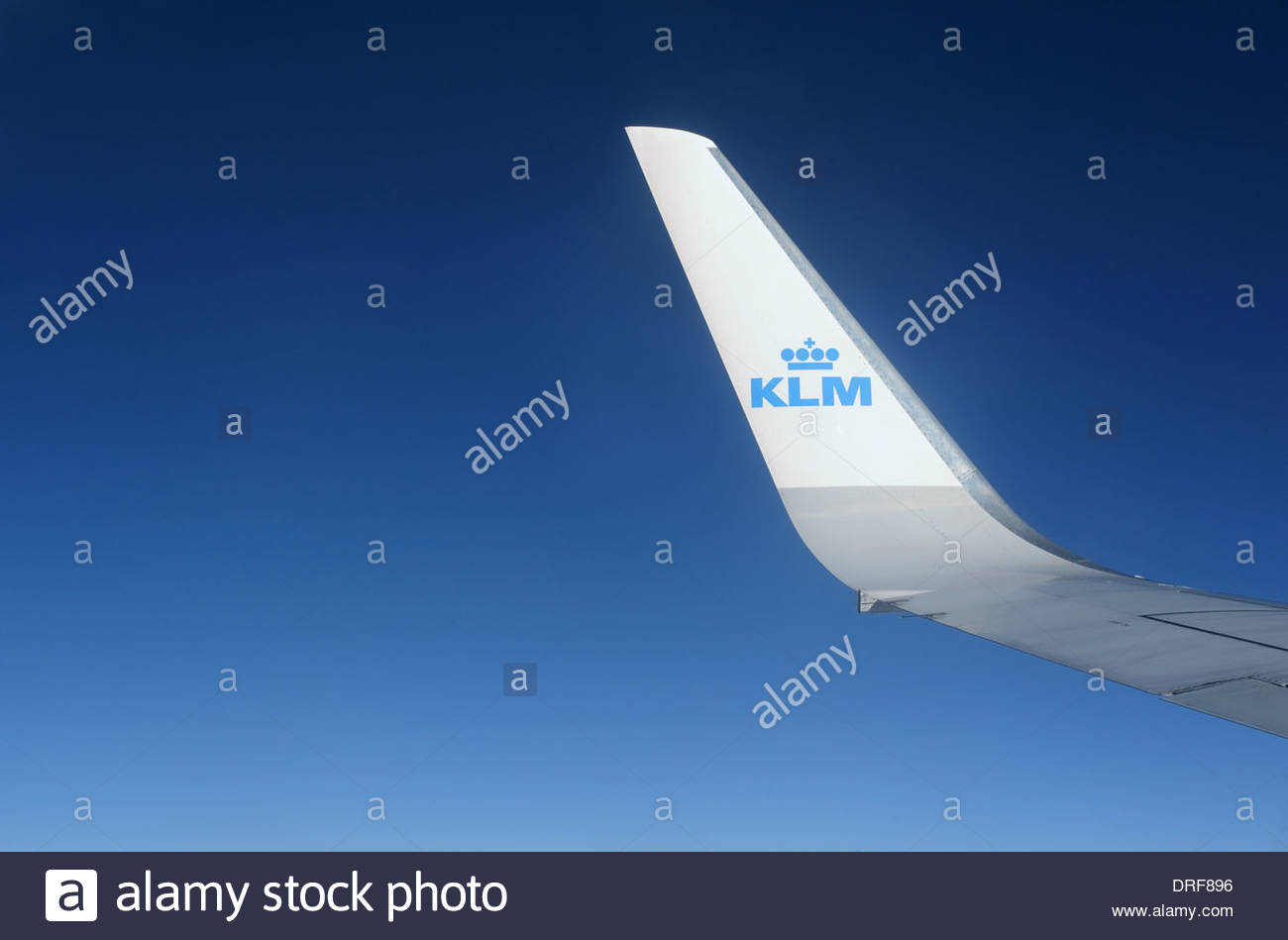 KLM Boeing 737 winglet with KLM logo. - Stock Image