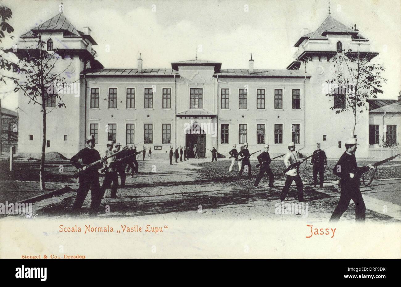 Romania - Iasi - Vasile Lupu Normal School - Stock Image