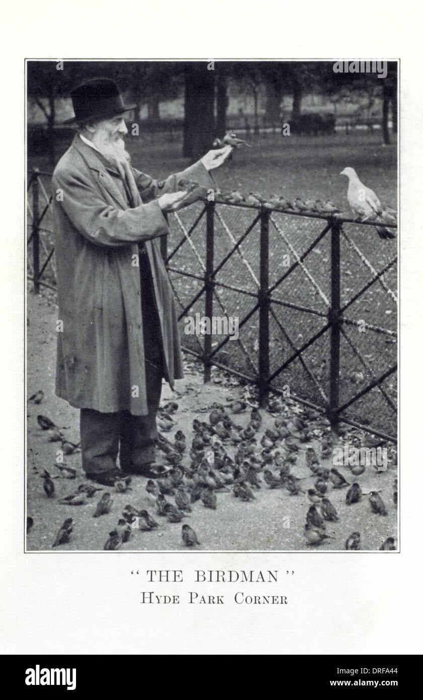 The Birdman - Hyde Park Corner - Stock Image