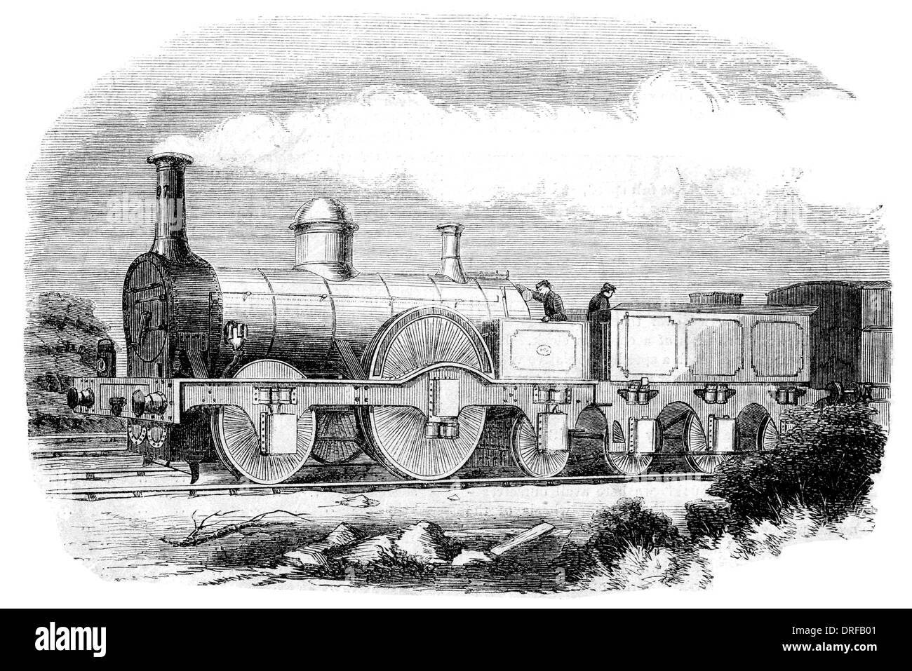 M'Connell's Patent Express the Bloomer Engine circa 1851 - Stock Image