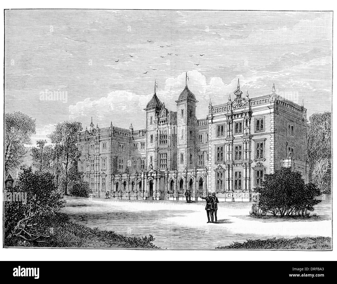 Kneller Hall Whitton, in west London Circa 1880 - Stock Image