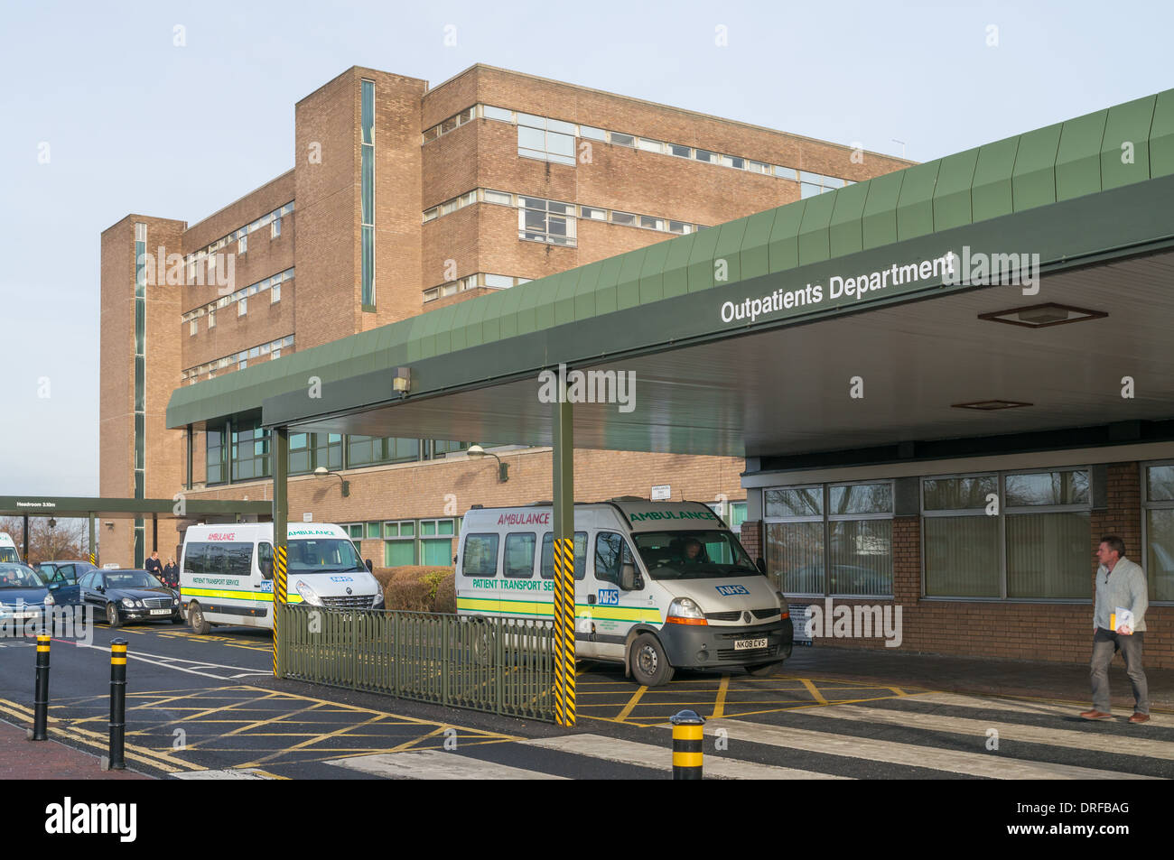 Newcastle upon Tyne Freeman Hospital, outpatients department north east England, UK - Stock Image