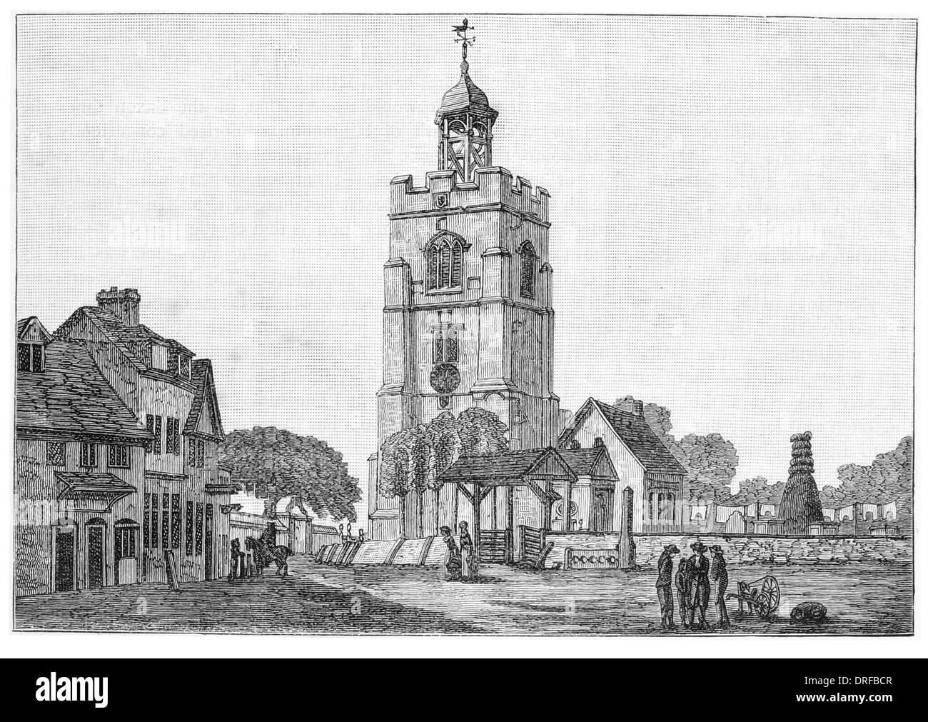 London Borough of Hillingdon, Church of St John the Baptist 1740 - Stock Image