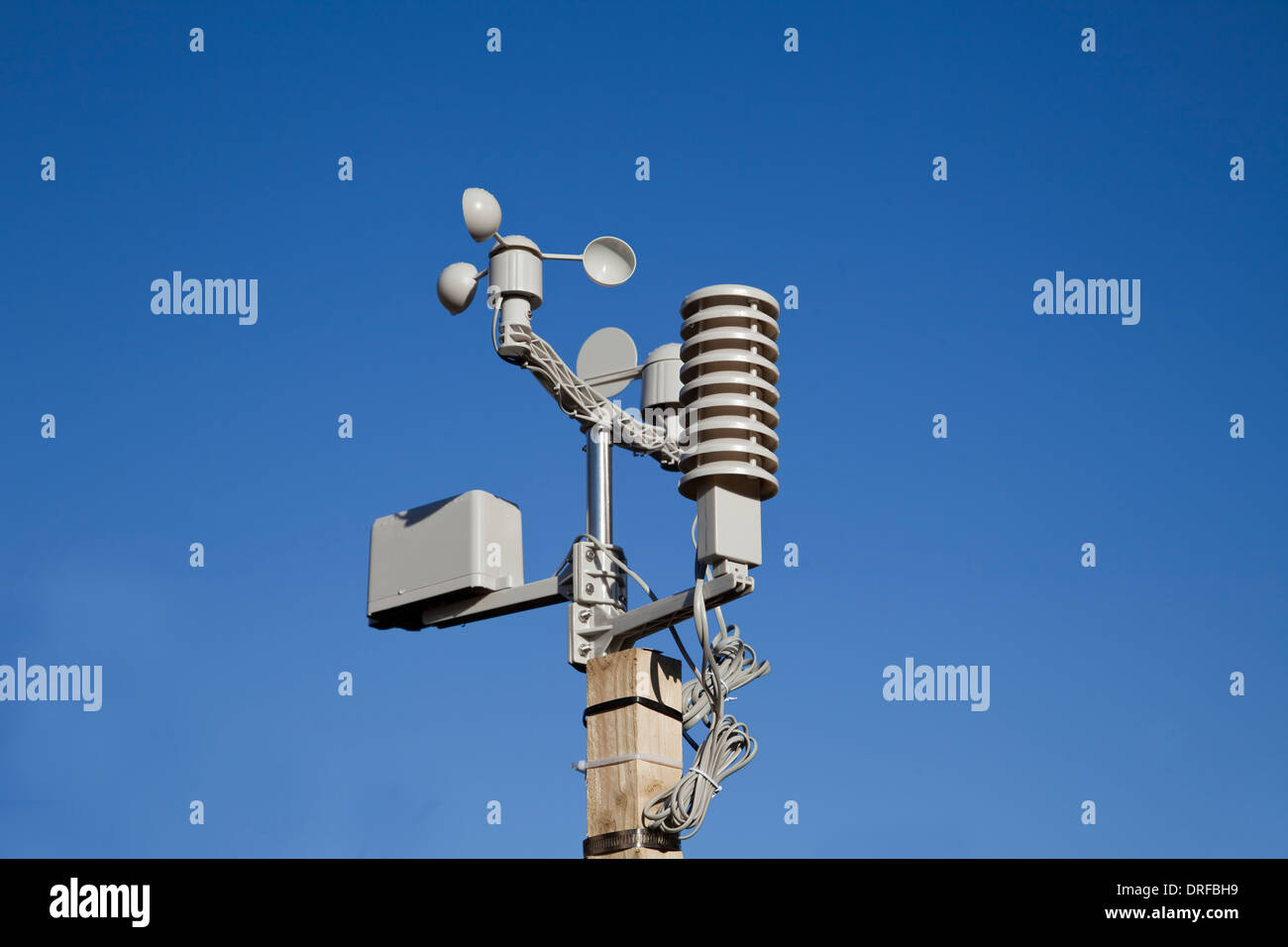 Professional weather station for domestic use - Stock Image
