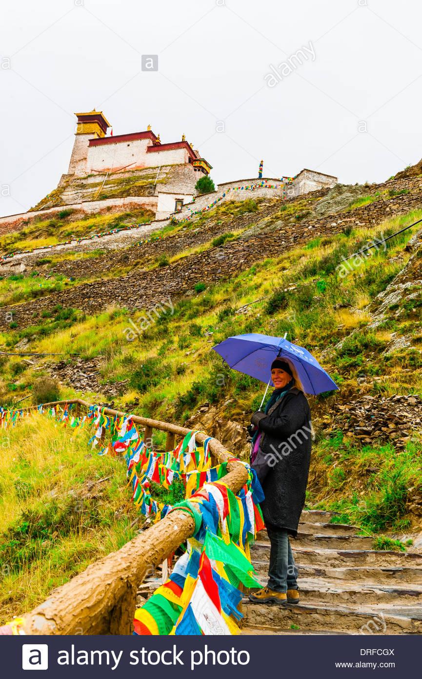 Yambulakhang Palace, Tibet (Xizang), China. Stock Photo