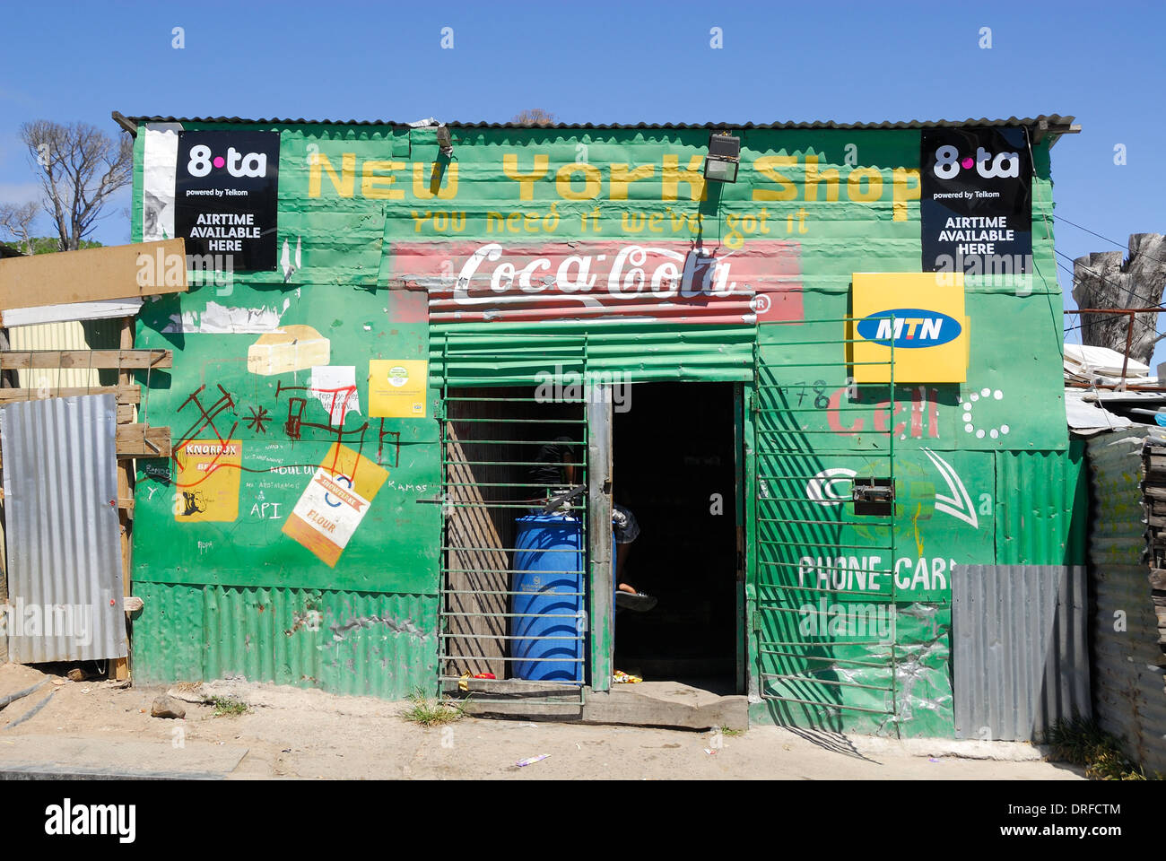 A shop in the Imizamo Yethu township near Cape Town - Stock Image