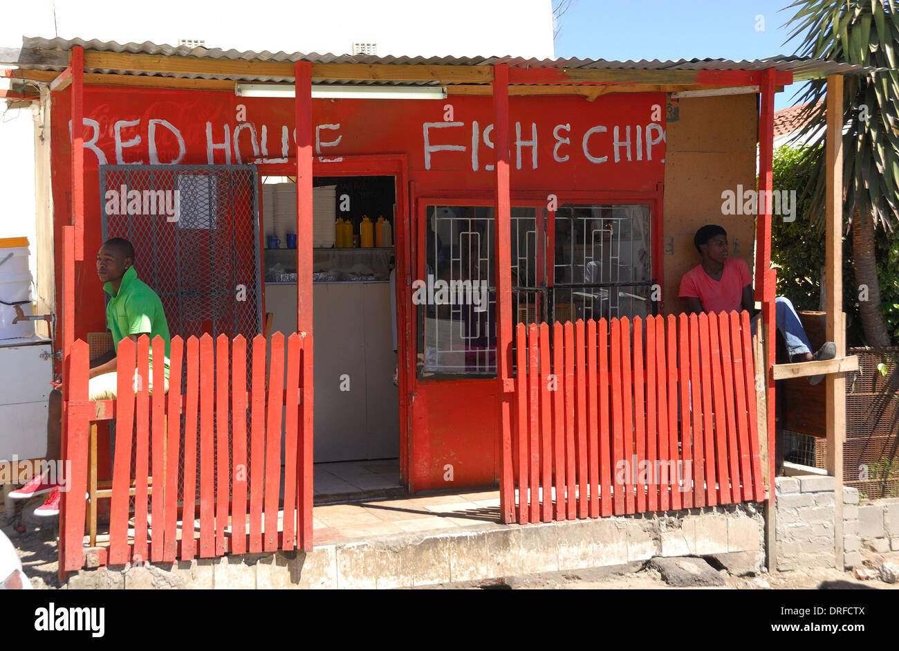 Imizamo Yethu township Fish and Chip shop - Stock Image