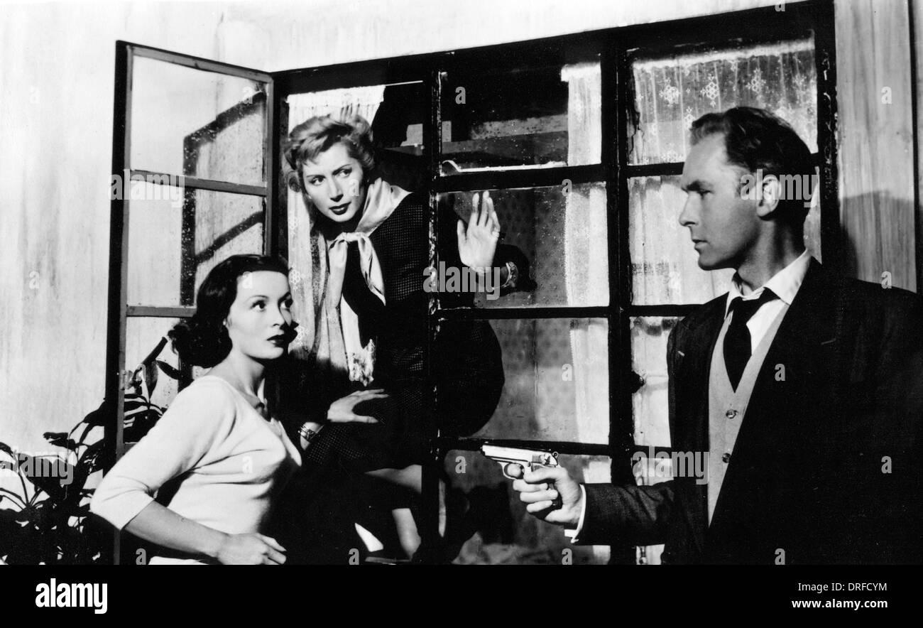 HIDDEN HOMICIDE 1959 Luckwell film with from left: Maya Koumani,  Patricia Laffan, Griffith Jones - Stock Image