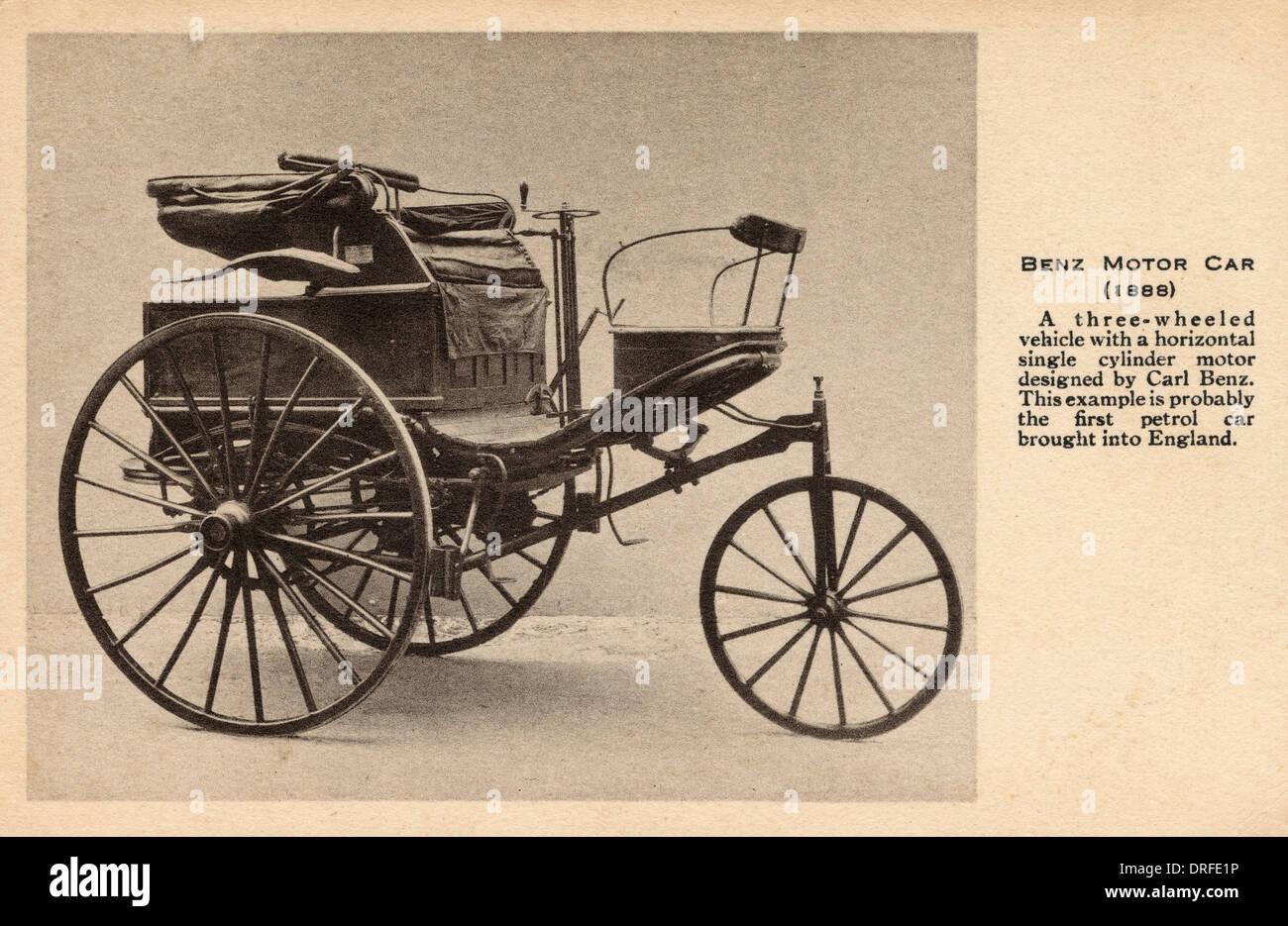 Benz Motor Car of 1888 - Stock Image