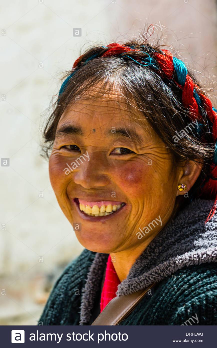 Yambulakhang Palace, Tibet, China. - Stock Image