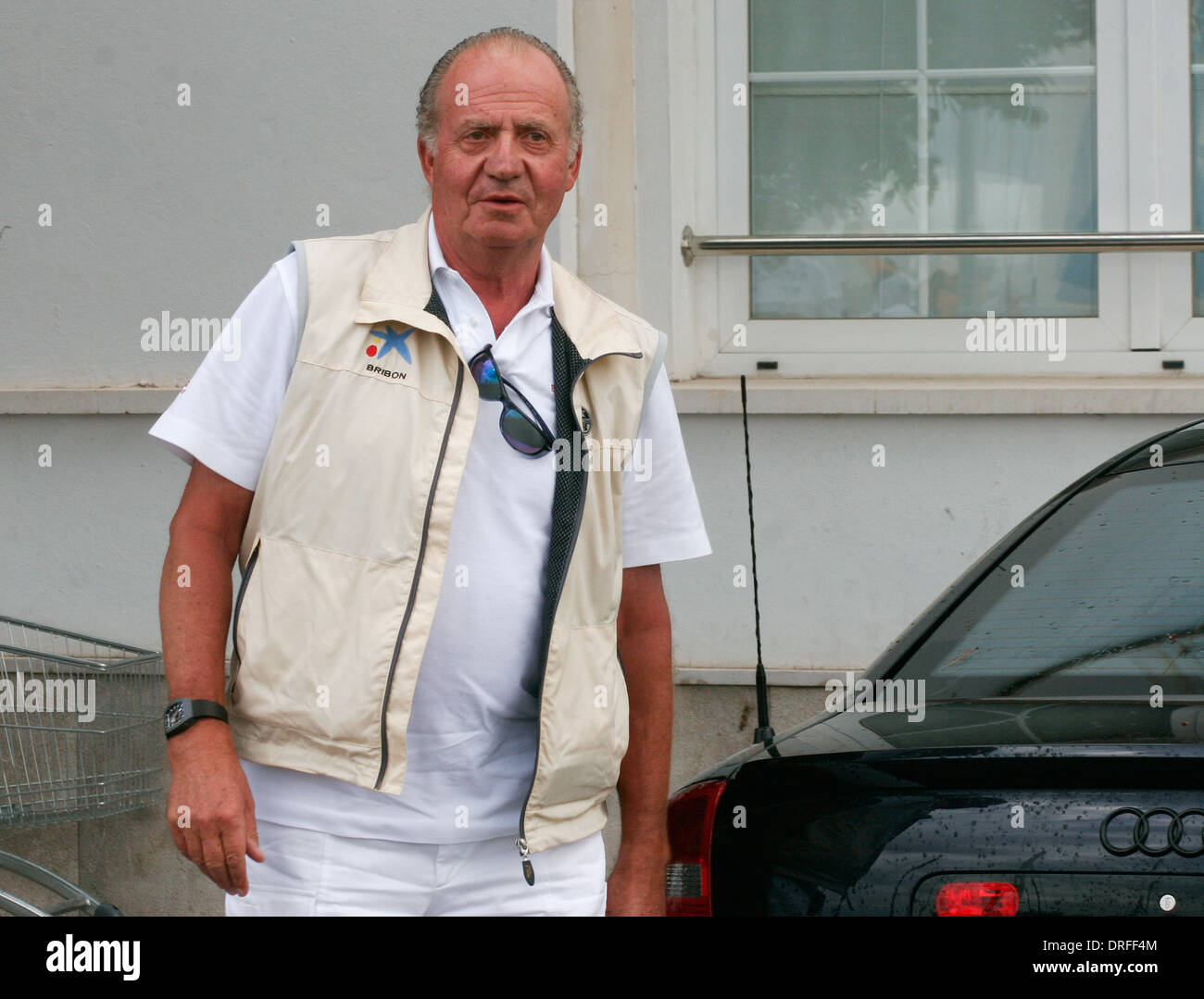 Spain´s royal King Juan Carlos seen in an event in the island of Mallorca, Spain - Stock Image
