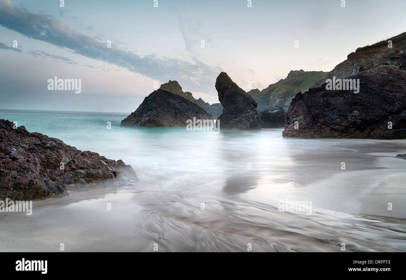 The Beach at Kynance Cove - Stock Image